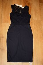 NEW&TAG DOROTHY PERKINS pencil dress SIZE 12 spotted lace shoulder occasion 50s