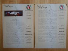 Apeninos hasta tres nueve 1995 Uk Mkt Prensa Folleto-Alfa Romeo 8c 2900b Recreación