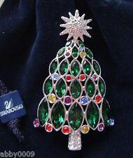 Signed 2005 Swarovski Christmas Tree Brooch Pin