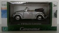 1:43 Scale Cararama Volkswagen Beetle Cabriolet Diecast Model - Silver