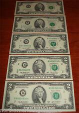 "FIVE Consecutive 2003A $2 ""A"" ""B"" ""K"""