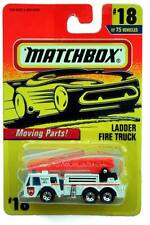 1996 Matchbox #18 Moving Parts Ladder Fire Truck white