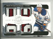 2011-12 Upper Deck The Cup FOUNDATIONS Quad PATCH #4 of 10 RYAN NUGENT HOPKINS