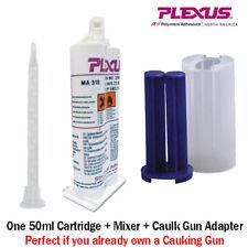 Plexus MA310 All Purpose High Strength MMA Adhesive-31500 50ml Caulk Gun Adapter