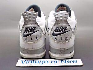 Nike Air Jordan IV 4 White Cement Retro OG BG 2016 sz 6Y