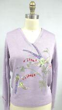 Fairy Kei VTG Sweater 70's Kawaii Lolita Heartworks L Birds Marshall Russo Shirl