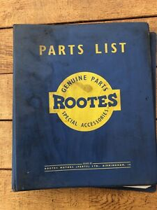 Rootes parts list, various, Commer, Dodge & Fargo