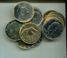 1971 P D EISENHOWER DOLLAR FULL 14 COIN GOLD + SILVER PLATED 8295F