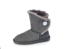 Emu Originals Hakea Lo Water Resistant Sheepskin Boots Charcoal Size 5/38 BNWT