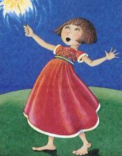 4Th Of July Sparkler Girl-Handcrafted Fridge Magnet-w/Mary Engelbreit art