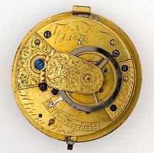 HIRAM migliori LONDRA INGLESE Verge Fusee Pocket Watch Movimento Ricambi Riparazione q26