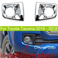 Toyota Tacoma 2016-2019 Chrome Finish LED Fog Lamp Set OEM NEW!