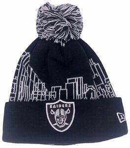 Oakland Raiders NFL Football NEW ERA 'THE TOWN' Beanie Warm Knit Pom Cap Hat
