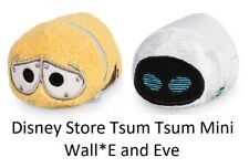 "Disney Store Wall-E and Eve Tsum Tsum Mini 3.5"" Plush Pixar B67 NWT US Authentic"