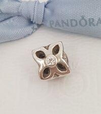 Authentic Pandora Clear CZ Open Flower Charm 790260CZ - Retired