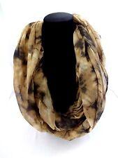 Tie dye infinity scarf double loop lightweight 30 inch by 70 inch