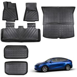 Floor Mats Trunk Mats Full Set For 5-Seat Tesla Model Y 2020 2021 Accessories