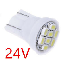 20X DC 24V White T10 W5W 8SMD LED License Plate Indicator Light Bulb 194 168 192