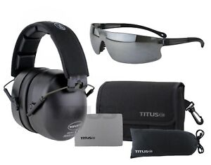Titus 3 Series - 37 NRR Noise Reduction Hearing Protection & G45 Z87+ Glasses