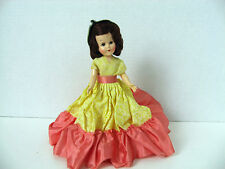 "Vintage 1950s Hard Plastic Celluloid Doll 7"" high - Sleep Eyes Sticking"
