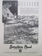 8/1945 PUB BOULTON PAUL AIRCRAFT PRECISION BOMBING FACTORY BOMBARDEMENT USINE AD