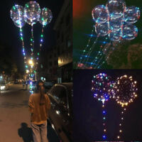 "Christmas Decoration LED String Light With Transparent Helium Balloons 18"" 20"""