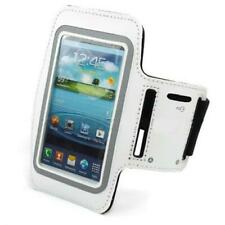 WHITE ARMBAND SPORTS GYM WORKOUT COVER PROTEC CASE ARM STRAP W6Q for Smartphones