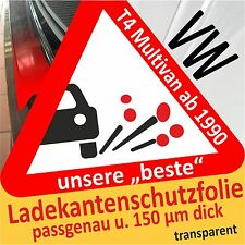 para VW T4 MULTIVAN Protección de bordes de carga Lámina Película 150µm