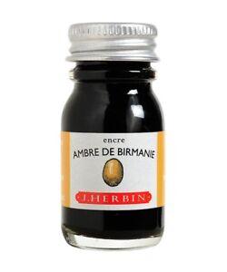 J. Herbin Bottled Fountain Pen Ink-Ambre de Birmanie Amber of Burma-10ml-H115-41
