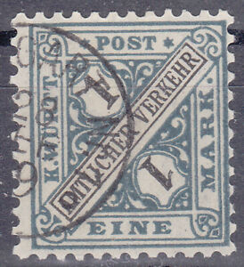 Altdeutschland / Württemberg Mi. Nr. 254 1917 1 Mark Dienstmarke USED