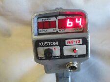 Kustom Radar Hr 12 K band police radar gun moving/stationary mode