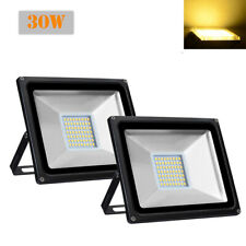 2X 30W Warm White LED Flood Light Outdoor Garden Lamp Lighting Floodlight 110V