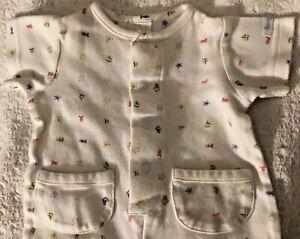 Baby Gap Sleeper Unisex Size Newborn Infant Baby 0-3 Months White Short Sleeves
