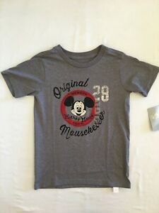 NWT Disney Store Mickey Mouse Boys Shirt Top Original Mouseketeer Gray