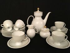 German Kaiser Porcelain Embossed Hoop Ring Pattern 20pc Tea Set