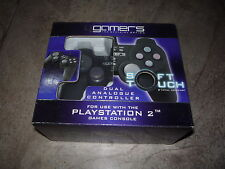 4 Gamers Dual Analogico Controller CABLATO ps2 Brand New & Sealed