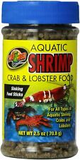Zoo Med Laboratories Aquatic Shrimp Crab and Lobster Food 2.5 Oz Sinking sticks