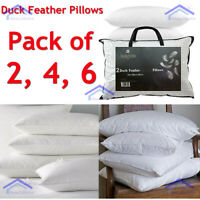 Special Offer New Hotel Quality Soft Luxury Duck Feather Extra Filled Pillows