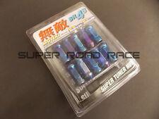 MUTEKI BLUE NEO SR48 OPEN EXTENDED WHEEL LUG NUTS 12X1.5 20 PC FOR HONDA ACURA