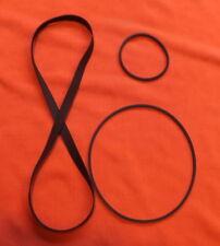 3 x Piece Belt Set for The Bang & Olufsen Beocenter 2500 Cassette Deck. New