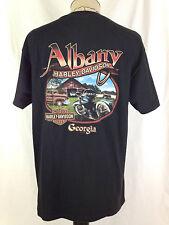 Harley Davidson T-Shirt Mens L Sz Albany Georgia Black Motorcycles Love My Wife