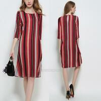 Short Sleeve Summer Mini Casual Women Loose Dress Cocktail Evening Party Dresses