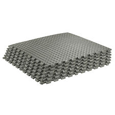 Sivan Health and Fitness Puzzle Exercise Mat Foam (Grey, 24 Square Feet)