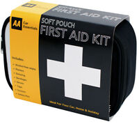 AA Soft Pouch First Aid Kit inc 45 Items Per Kit - Ideal to store put in Vehicle