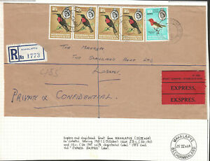 BECHUANALAND PROTECTORATE 1964 TWO EXPRESS COVERS FINE USED LOT. A221