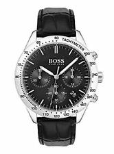 Hugo Boss HB 1513579 Talent Chronograph Black Dial Leather Band Men's Watch