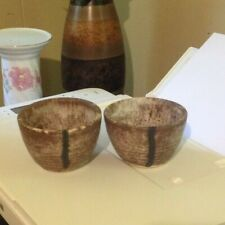 McCarty's Pottery Nutmeg Cups'/ bow'sl New from McCarty Studio  SET OF 2 NEW!