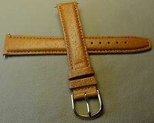 New Mens Timex Brown Padded Pigskin 18mm Regular Watch Band Gold Tone Buckle