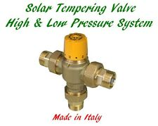 Solar Hot Water Tempering Valve Thermostatic Mixing Valve Adjustable 3/4""