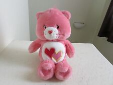"Care Bears LOVE A LOT BEAR 13"" SINGING Plush Stuffed Animal"